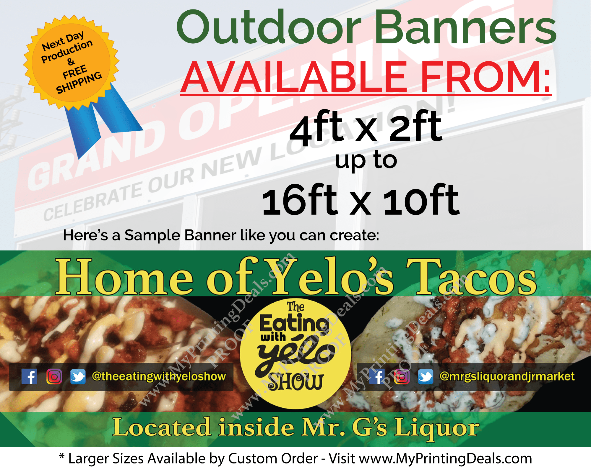 Order your Banners from MyPrintingDeals.com Today!