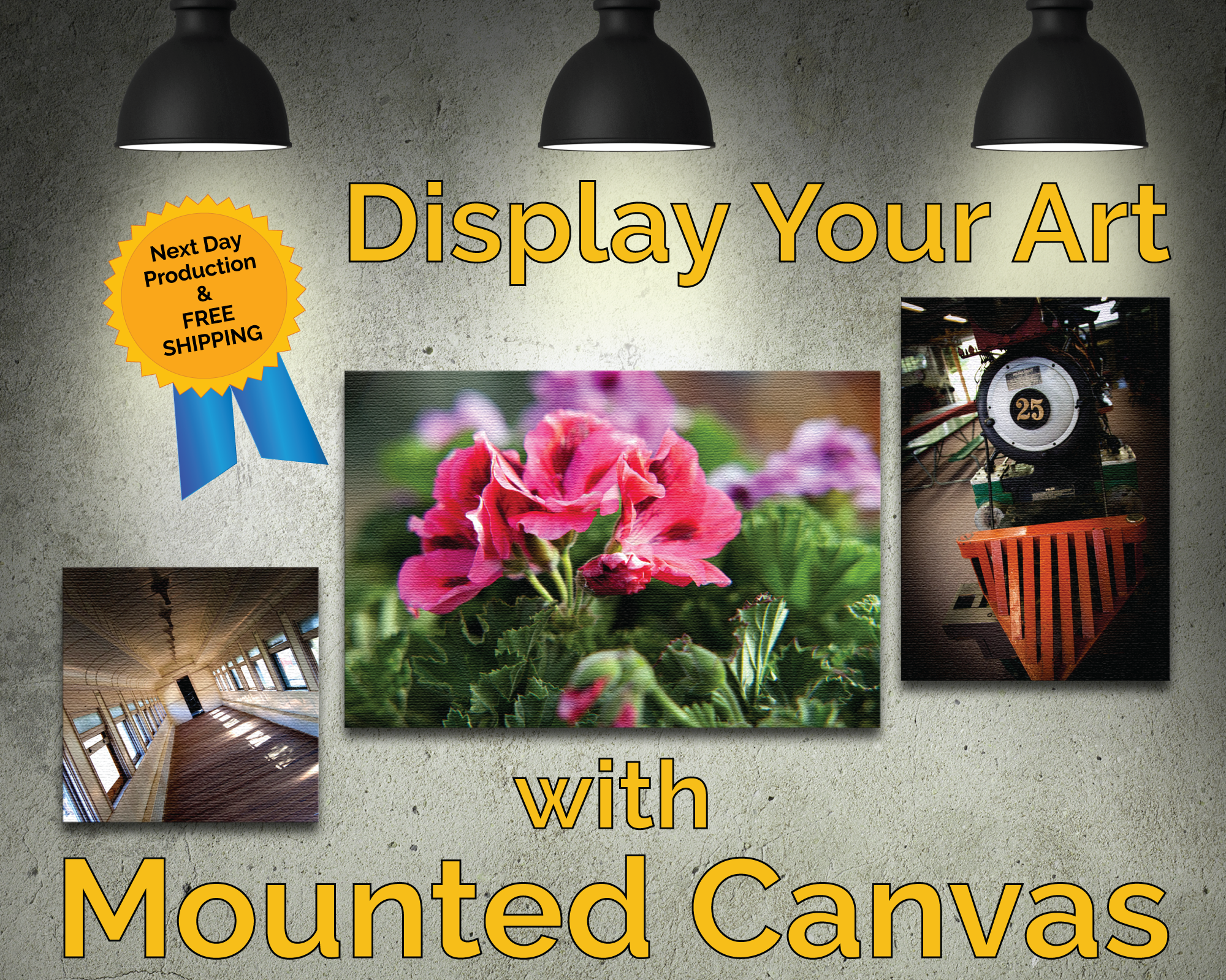 Display your art on Mounted Canvas, Order Today at myPrintingDeals.com